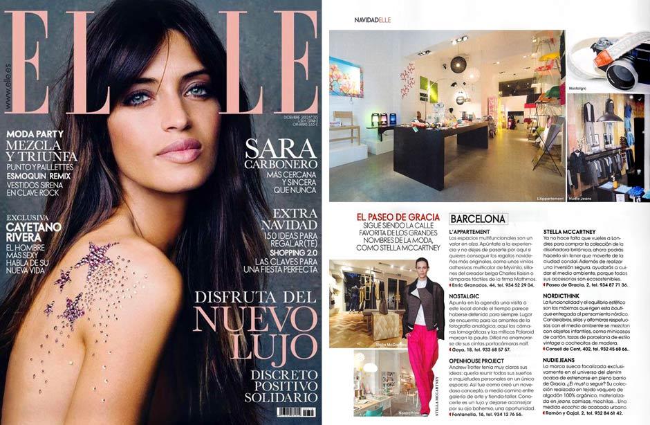 Tienda Nostalgic de Barcelona en la revista Elle