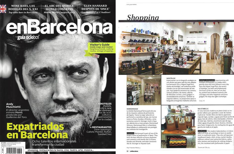 Nostalgic en la revista En Barcelona - Febrero 2013