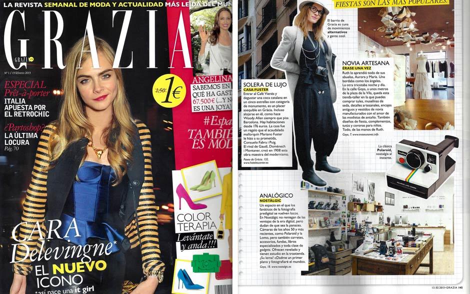 Nostàlgic en la revista Grazia en Febrero 2013